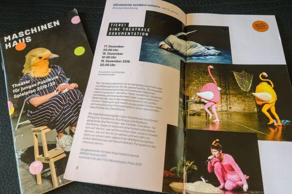 Programmheft 2019/20 - Theater für junges Publikum, Maschinenhaus Essen - diverse Fotos