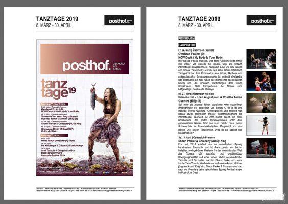"""POSTHOF Tanztage 2019 - Foto für """"My Body is Your Body"""""""