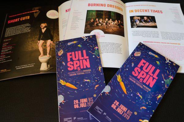 5. Full Spin Festival - international Phycical Theatre Festival Essen - mehrer Fotos für das Programmheft und Flyer