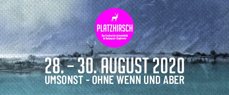 Platzhirsch Festival 2020 – Spendenaktion statt Tickets