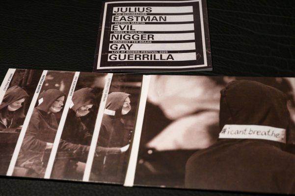 "Schumacher - Martin - Zhulali - ter Braak: ""Julius Eastman - Evil Nigger - Gay Guerrilla"" - live Moers Festival 2020 - Fotos für das Booklet"