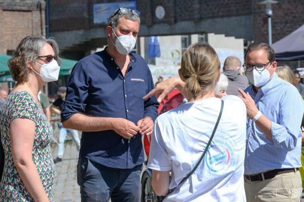 Tonja Wiebracht, Marcus Kalbitzer und Thomas Kufen im Grespräch, Gutes Klima Festival, 14.08.2021, Zeche Carl, Essen
